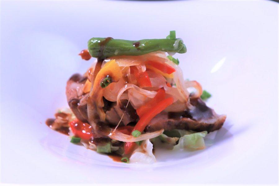 豚ばら肉と夏野菜の中華風グリル 甜面醤ソース