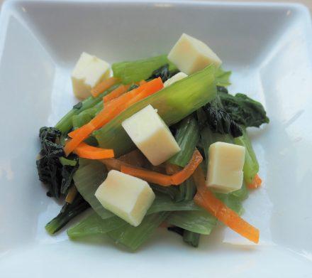 小松菜のチーズ和え